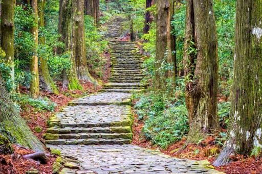 Kumano Kodo walking trail in Japan