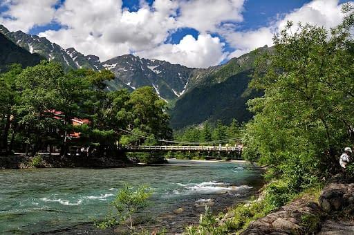 Kamikochi hiking trails in Japan