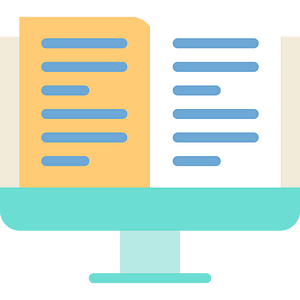 Desktop computer illustration